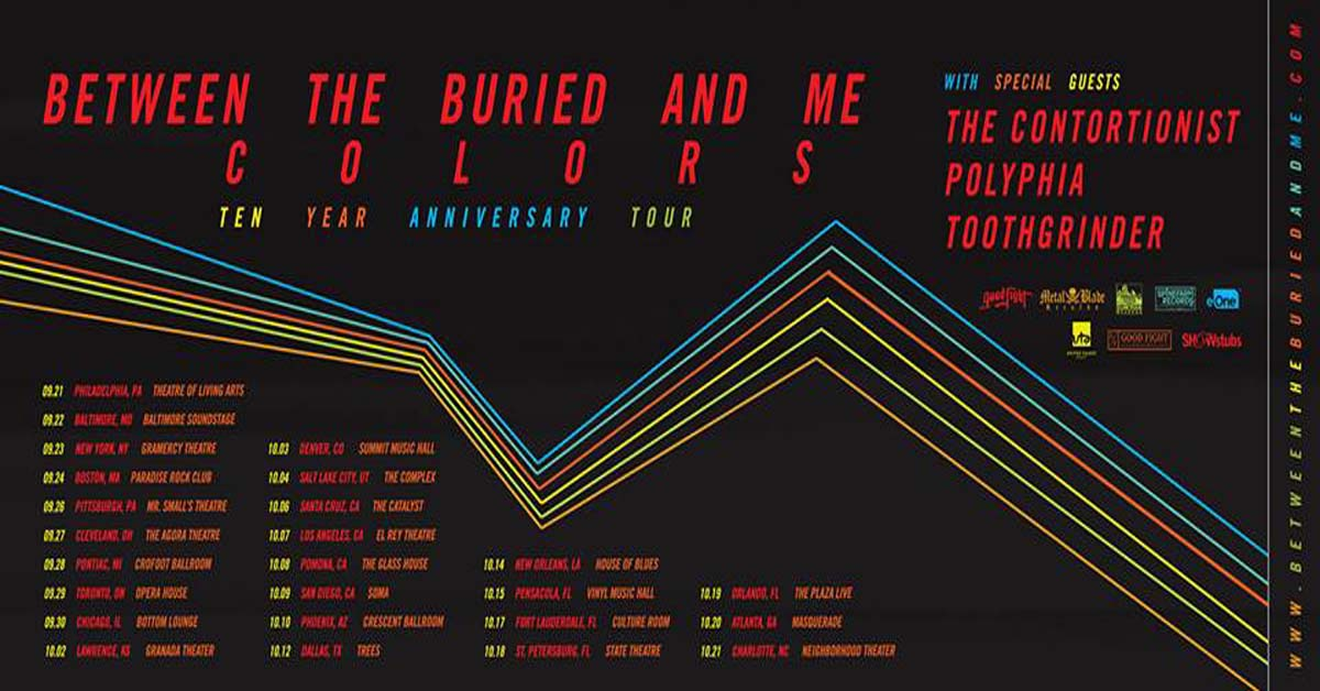 Between The Buried And Me Announces Colors Ten Year